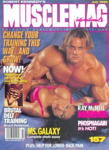 I used to read this crap!  The cover guy is the glorious Craig Titus...who is now in prison with his former fitness competitor wife, Kelly Ryan!  Haha...I competed in the Ms. Galaxy competitions.  The muscle world is soooo weird!