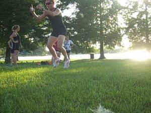 Demonstrating broad jumps!
